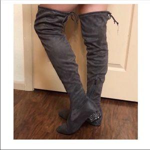 🆕Catherine Malandrino Glitter Heel Over Knee Boot